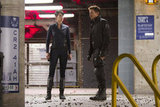 Cobie Smulders as Agent Maria Hill and Jeremy Renner as Hawkeye in The Avengers. Photo courtesy of Disney