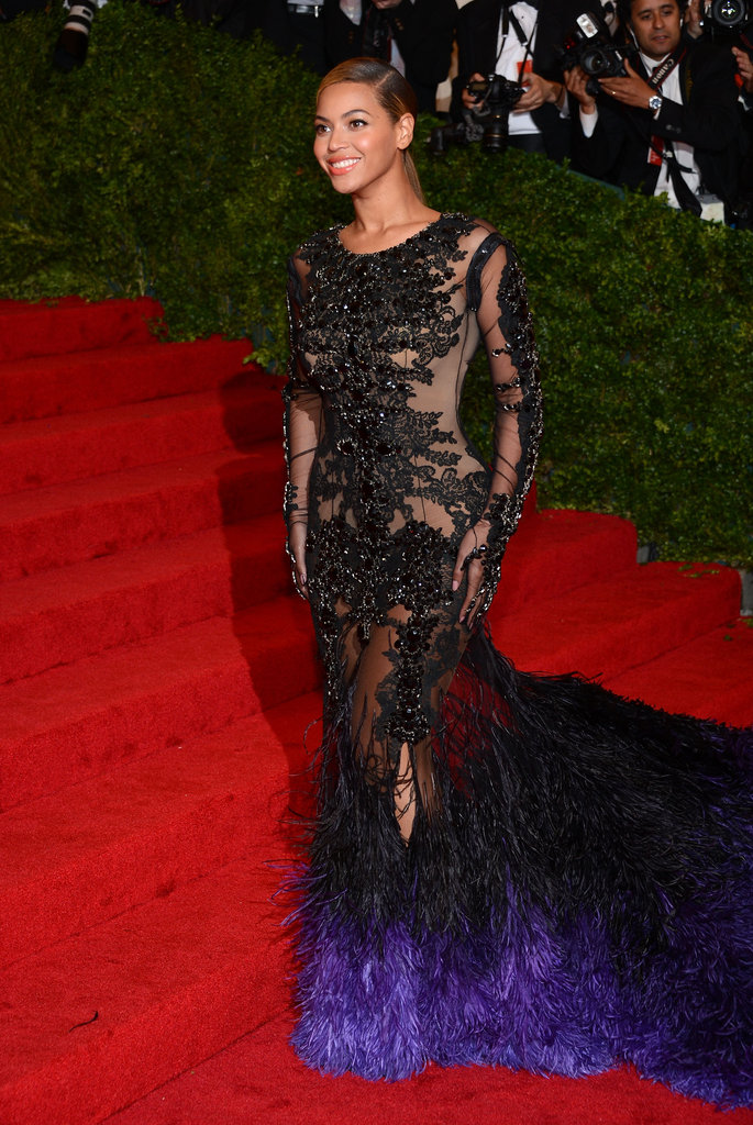 Beyoncé Knowles looked stunning a design by Givenchy for the Met Gala.