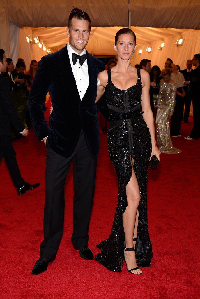 Gisele Bundchen had her arm around Tom Brady at the Met Gala.