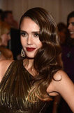 Jessica Alba Hits the Met Gala Red Carpet in Michael Kors