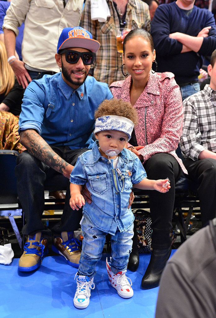 Egypt Dean, Swizz Beatz, and Alicia Keys posed for a family photo.
