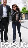 Kristen Stewart left her NYC hotel.