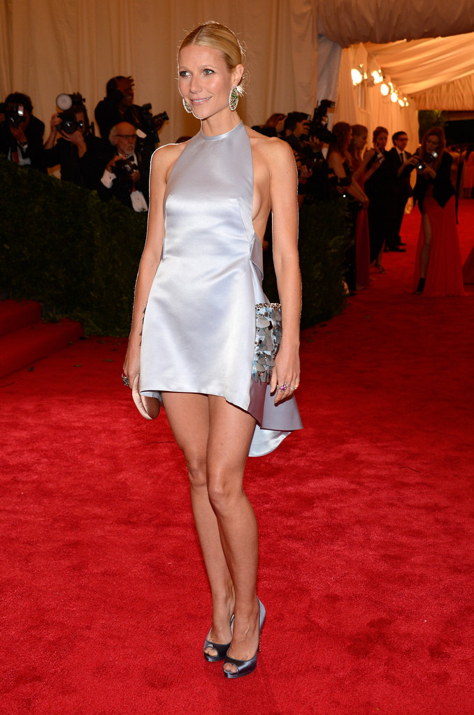 Gwyneth Paltrow wore a mini Prada number on the red carpet at the Met Gala.