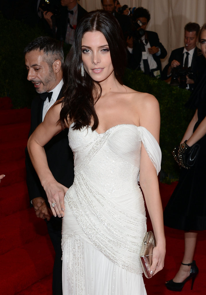 Ashley Greene left her hair down for the formal affair.