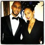 Alicia Keys snapped a pic with husband Swizz Beatz. Source: Instagram User aliciakeys