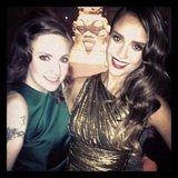 Jessica Alba met Girls star Lena Dunham. Source: Instagram User therealjessicaalba