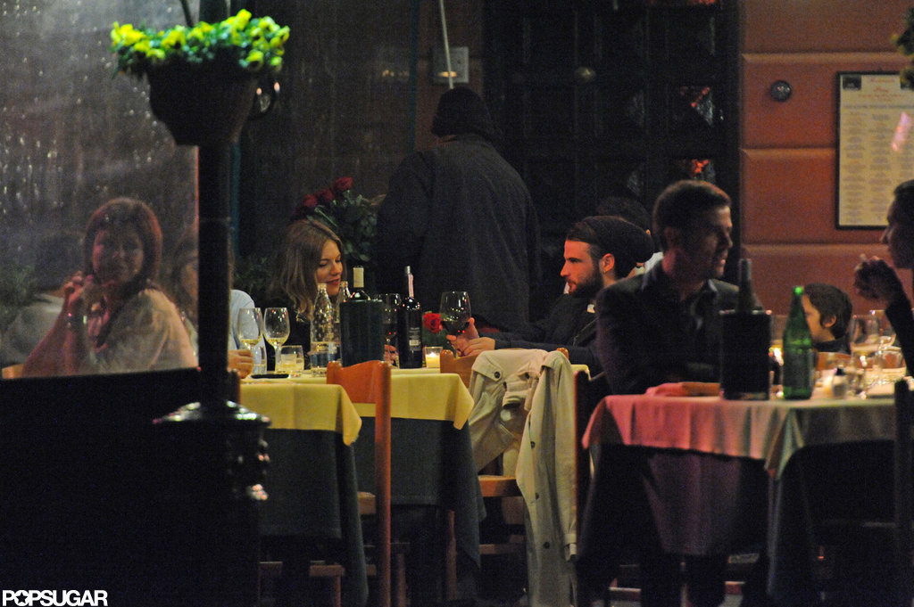 Sienna Miller and Tom Sturridge dined outside in Italy.