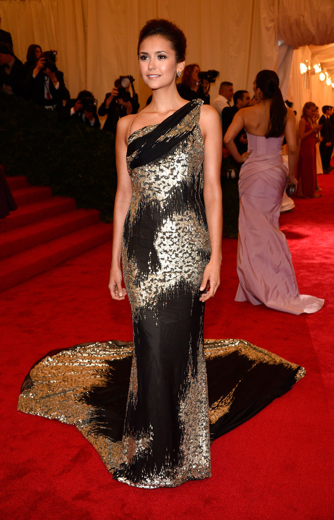 Nina Dobrev Channels Her Sexy Side in a Custom Donna Karan at the Met