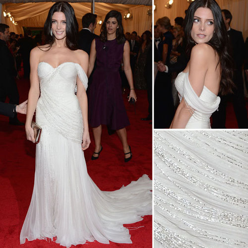 Pictures of Ashley Greene in Custom Donna Karan Atelier on the Red Carpet at the 2012 Met Costume Institue Gala