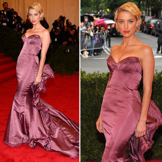 Amber Heard at Met Gala 2012