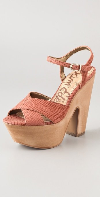 We're convinced that these python-print wedges will look good with everything.  Sam Edelman Corbin Sandals ($150)