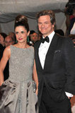 Livia Giuggioli and Colin Firth in 2011