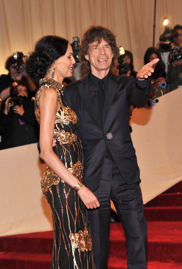 L'Wren Scott and Mick Jagger in 2011
