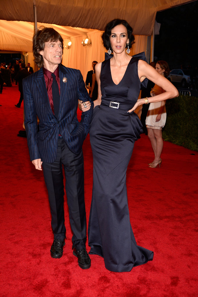 Mick Jagger and L'Wren Scott in 2012