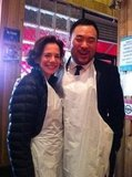 Dana Cowin and David Chang All Gussied Up
