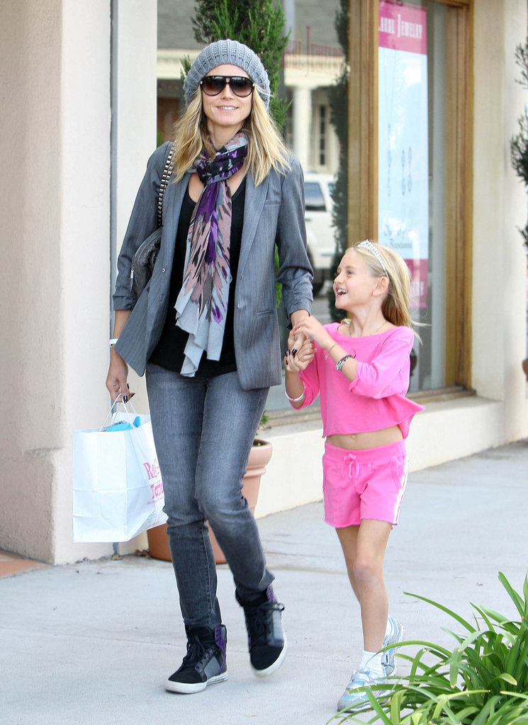 Heidi Klum took a stylish walk with her eldest daughter, Leni Klum, during a shopping trip in March 2011.