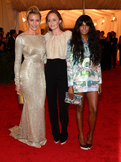 Stella McCartney arrived with M.I.A. and Cameron Diaz.