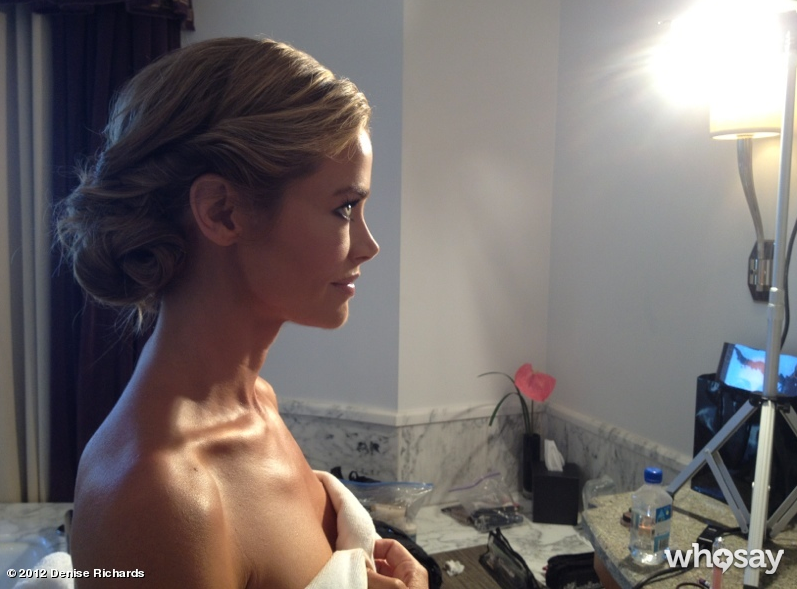 Denise Richards shared a photo of her updo. Source: Denise Richards on WhoSay