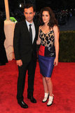 Kristen Stewart posed on the red carpet of the Met Gala with Balenciaga designer Nicolas Ghesquiere.