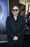 Tim Burton wore black shades for the Dark Shadows premiere in LA.