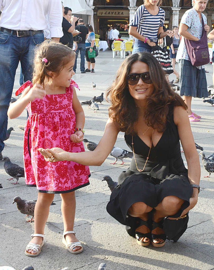 Salma Hayek and her daughter, Valentina Pinault, spent a sweet day together in Italy in September 2011.