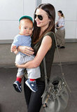Miranda Kerr and her adorable son Flynn made their way through the airport after arriving in Sydney in January 2012.