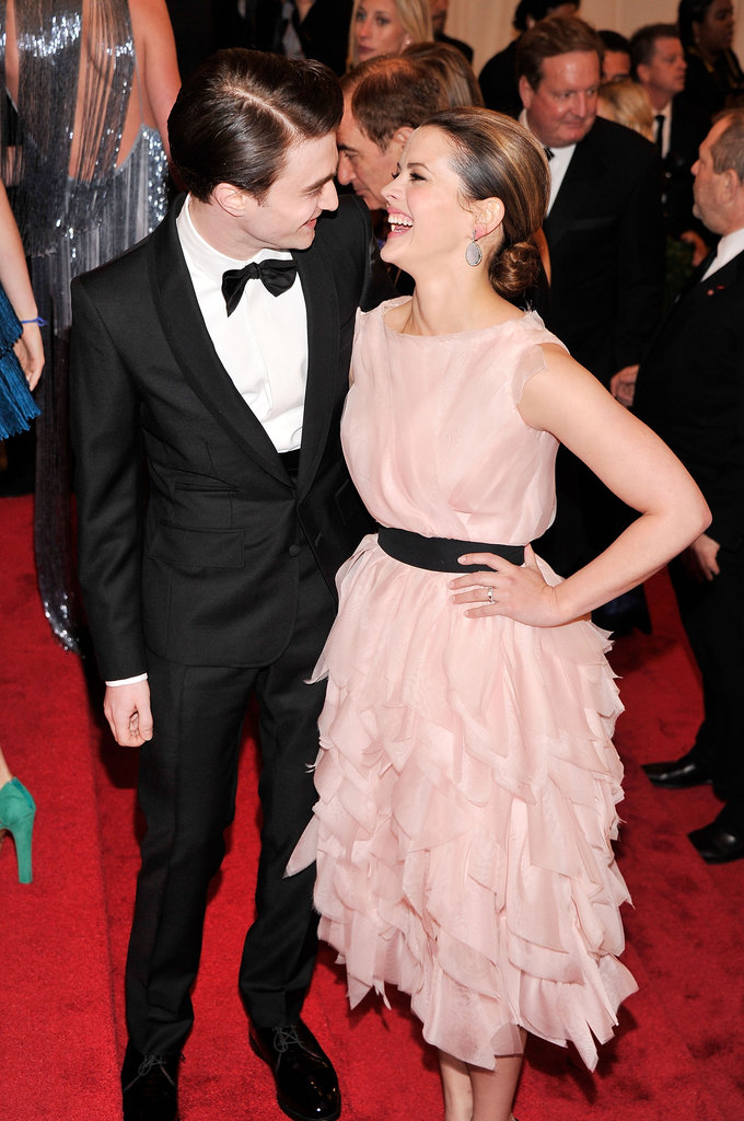 Daniel Radcliffe and his How to Succeed in Business costar Rose Hemingway laughed their way down the carpet.