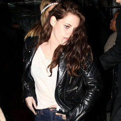 Kristen Stewart Leather Jacket on Kristen Stewart Pictures In Jeans And Leather Jacket After 2012 Met
