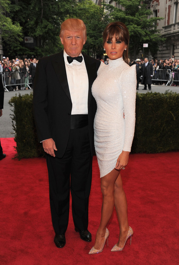 Donald and Melania Trump got serious for the stylish event.