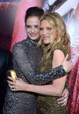Eva Green and Michelle Pfeiffer embraced at the Dark Shadows premiere in LA.