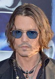 Johnny Depp wore blue lenses for the Dark Shadows premiere in LA.
