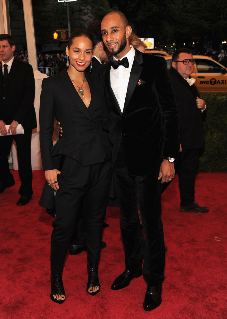 Alicia Keys and her husband, Swizz Beatz, brought a musical note to the bash.