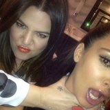 Khloe Kardashian joked around with her sister Kim.  Source: Instagram user kimkardashian