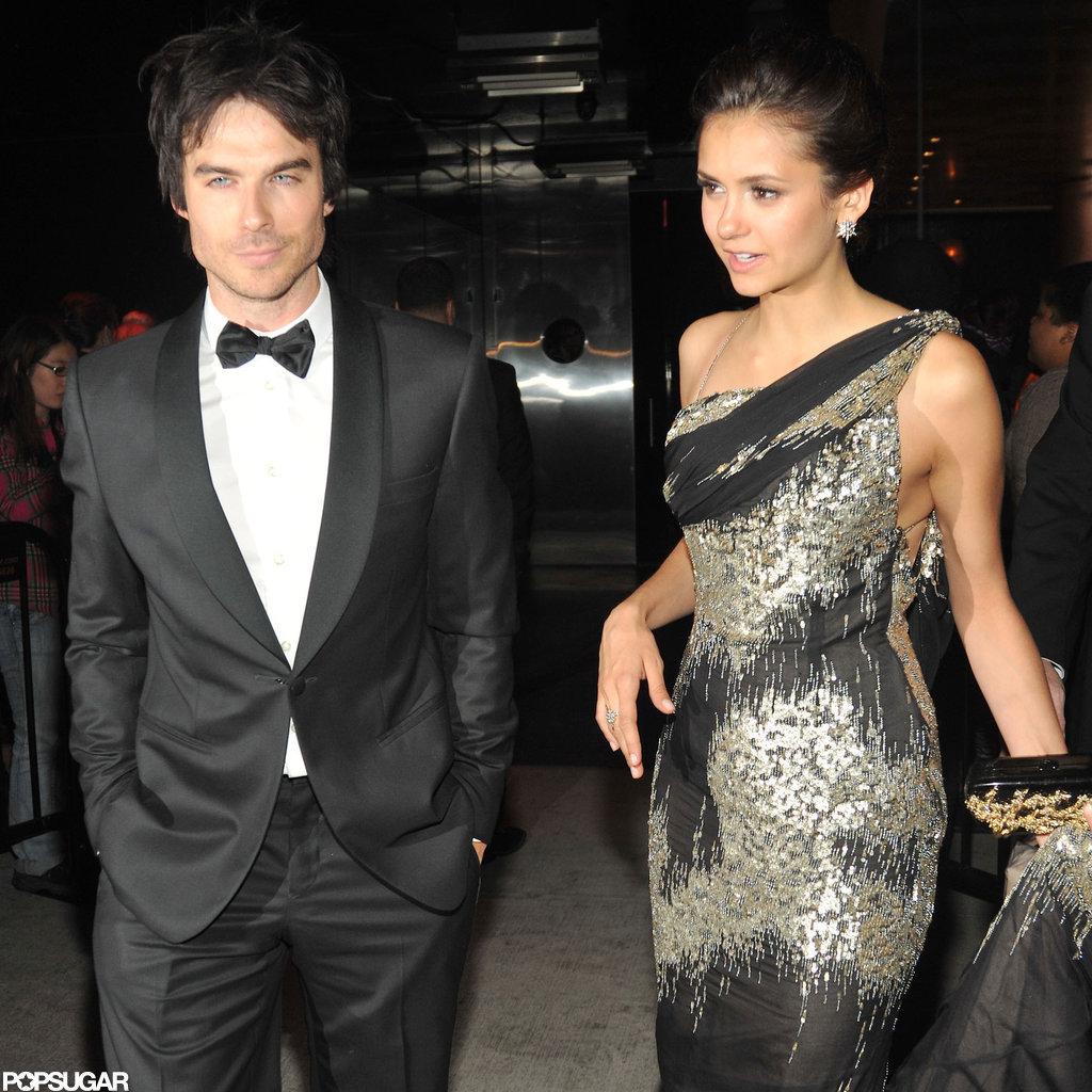 Nina Dobrev and Ian Somerhalder attended the Met Gala after party together.