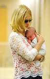 January Jones became a mom for the first time with the September 2011 birth of Xander.