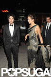 Nina Dobrev and Ian Somerhalder were together at the Met Gala after party.