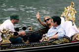 Sienna Miller and Oliver Platt took a gondola ride with Heath Ledger during the 2005 Venice Film Festival in September.