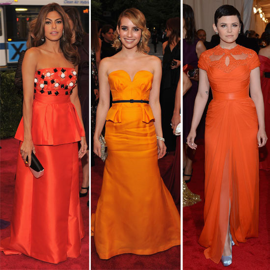 2012 Met Costume Institute Gala Trend: Tangerine Dream