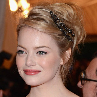 Emma Stone's Beauty Look at the 2012 Met Costume Institute Gala