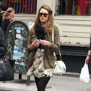 Jessica Alba White Proenza Schouler PS1 Bag