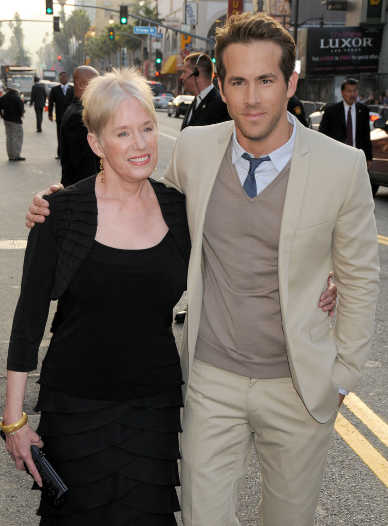 Ryan Reynolds brought his mum, Tammy, to the Hollywood premiere of The Proposal in June 2009.