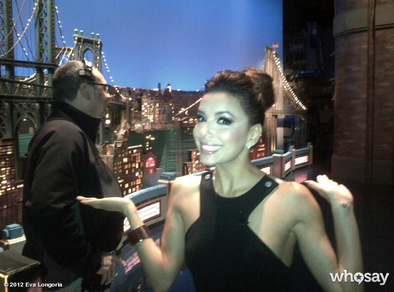 Eva Longoria checked out backstage at the Late Show.  Source: Eva Longoria on WhoSay