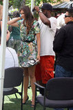 Nina Dobrev looked gorgeous in a dress perfect for Spring.
