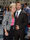Ryan Seacrest was honoured with a star on the Hollywood Walk of Fame in April 2005 and brought his mum, Connie.