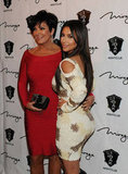 Kim Kardashian and her mom, Kris Jenner, attended Rob Kardashian's March 2012 birthday celebration at 1 Oak in Las Vegas.