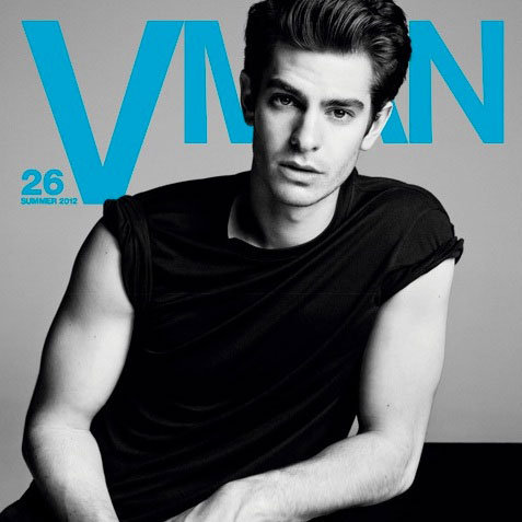 Andrew Garfield V Man Cover Pictures 2012