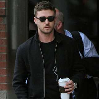 Justin Timberlake With Coffee in NYC Pictures