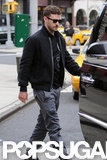 Justin Timberlake jumped into the car after leaving his NYC hotel.