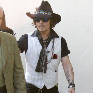 Johnny Depp Pictures at Jimmy Kimmel Live