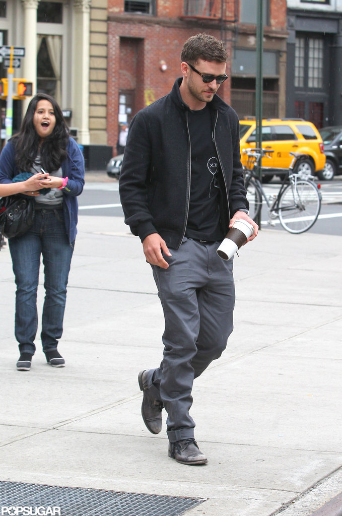 Justin Timberlake took a walk around NYC.